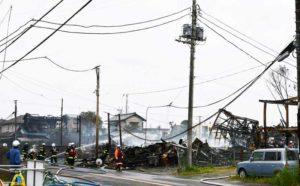 『バーベキュー』で全焼11棟を含む計15棟の火事 八街市八街869付近